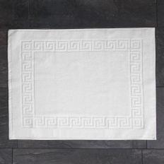 greek key bath mat
