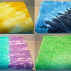 Tie & Dye jacquard terry towels